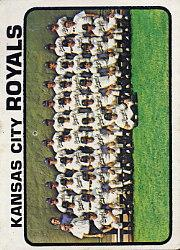 1973 Topps #347 Kansas City Royals TC
