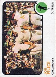 1973 Topps #360 Joe Rudi UER (Photo actually Gene Tenace)