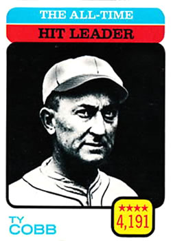 1973 Topps #471 Ty Cobb/All-Time Hit Leader