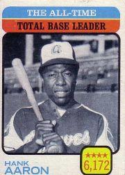 1973 Topps #473 Hank Aaron/All-Time Total Base Leader