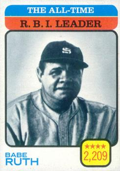 1973 Topps #474 Babe Ruth/All-Time RBI Leader