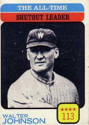 1973 Topps #476 Walter Johnson/All-Time Shutout Leader