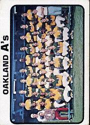 1973 Topps #500 Oakland Athletics TC
