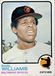 1973 Topps #504 Earl Williams