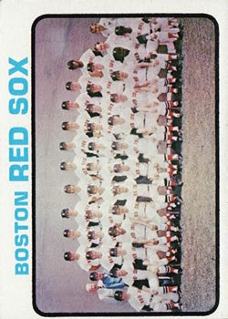 1973 Topps #596 Boston Red Sox TC
