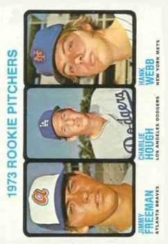 1973 Topps #610 Rookie Pitchers/Jimmy Freeman/Charlie Hough/Hank Webb RC