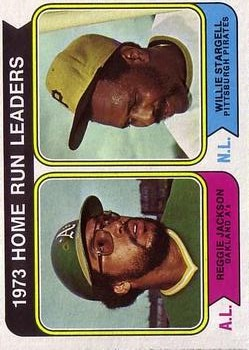 1974 Topps #202 Home Run Leaders/Reggie Jackson/Willie Stargell