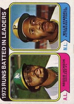 1974 Topps #203 RBI Leaders/Reggie Jackson/Willie Stargell