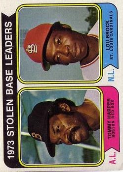 1974 Topps #204 Stolen Base Leaders/Tommy Harper/Lou Brock