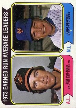 1974 Topps #206 ERA Leaders/Jim Palmer/Tom Seaver