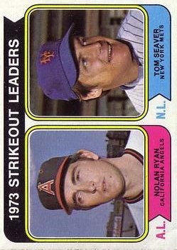 1974 Topps #207 Strikeout Leaders/Nolan Ryan/Tom Seaver
