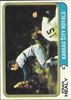 1974 Topps #238 Fran Healy/Munson sliding/in background