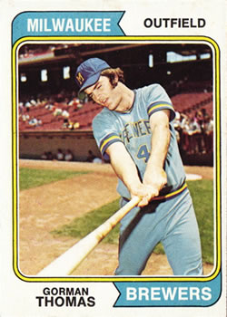 1974 Topps #288 Gorman Thomas RC