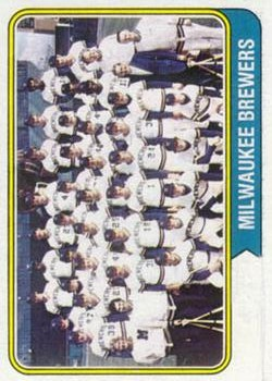1974 Topps #314 Milwaukee Brewers TC