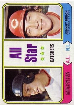 1974 Topps #331 Carlton Fisk/Johnny Bench AS