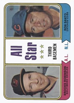 1974 Topps #334 Brooks Robinson/Ron Santo AS