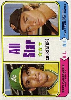 1974 Topps #335 Bert Campaneris/Chris Speier AS