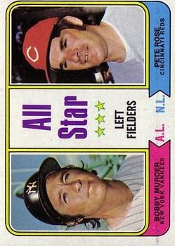 1974 Topps #336 Bobby Murcer/Pete Rose AS