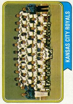 1974 Topps #343 Kansas City Royals TC
