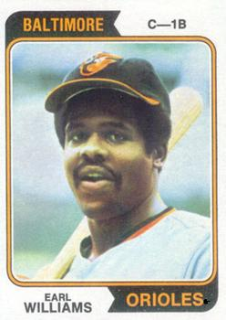 1974 Topps #375 Earl Williams