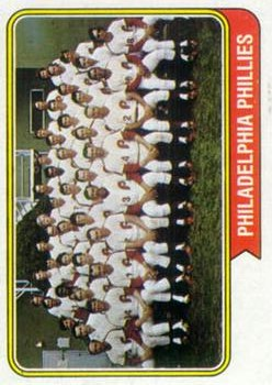 1974 Topps #383 Philadelphia Phillies TC