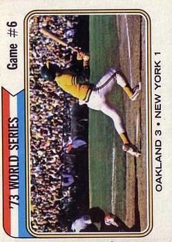 1974 Topps #477 World Series Game 6/Reggie Jackson