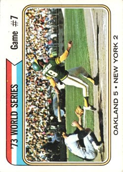 1974 Topps #478 World Series Game 7/Bert Campaneris