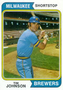 1974 Topps #554 Tim Johnson RC