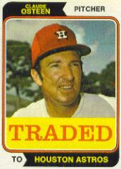 1974 Topps Traded #42T Claude Osteen