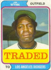 1974 Topps Traded #43T Jim Wynn