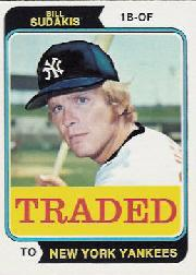 1974 Topps Traded #63T Bill Sudakis