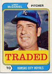 1974 Topps Traded #182T Lindy McDaniel