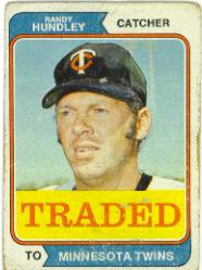 1974 Topps Traded #319T Randy Hundley