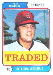 1974 Topps Traded #348T Pete Richert