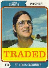 1974 Topps Traded #373T John Curtis