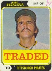 1974 Topps Traded #454T Kurt Bevacqua
