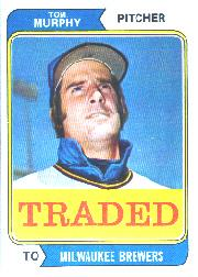 1974 Topps Traded #496T Tom Murphy