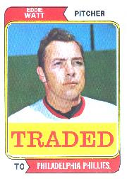 1974 Topps Traded #534T Eddie Watt