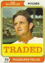 1974 Topps Traded #544T Ron Schueler