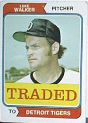 1974 Topps Traded #612T Luke Walker