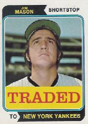 1974 Topps Traded #618T Jim Mason