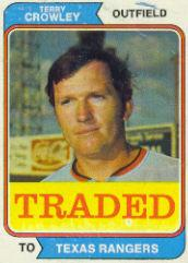 1974 Topps Traded #648T Terry Crowley