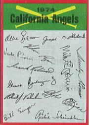 1974 Topps Team Checklists #4 California Angels