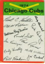 1974 Topps Team Checklists #5 Chicago Cubs