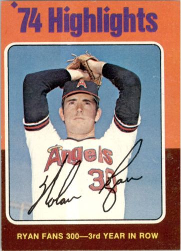 1975 Topps #5 Nolan Ryan HL/Fans 300 for/3rd Year in a Row