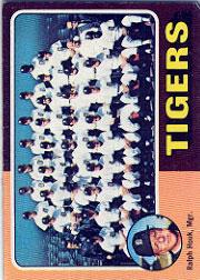 1975 Topps #18 Detroit Tigers CL/Ralph Houk MG