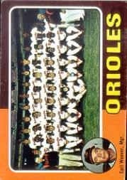 1975 Topps #117 Baltimore Orioles CL/Earl Weaver MG