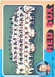 1975 Topps #172 Boston Red Sox CL/Darrell Johnson MG
