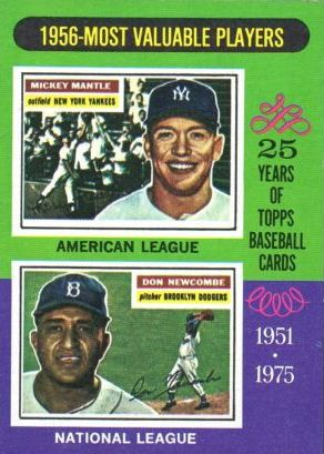 1975 Topps #194 Mickey Mantle/Don Newcombe MVP front image