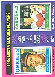 1975 Topps #202 Brooks Robinson/Ken Boyer MVP
